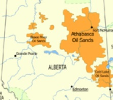 Alberta's Oil Sands (map)