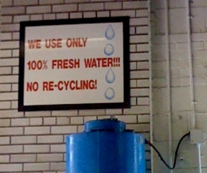 No recycling water