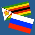 Flags of Zimbabwe and Russia