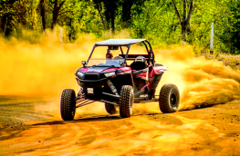 Polaris RZR raising dust